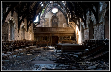 decaying church